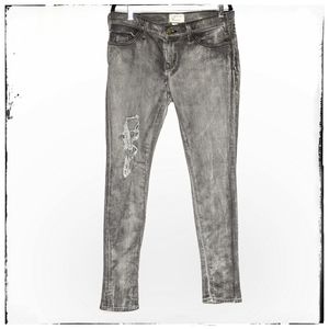 Current/Elliott Destroyed Grey Slim Leg Jean Sz 30